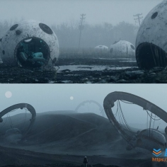 C4D未来科幻短片场景工程文件Cinema 4d Octane No Signal Wasteland s...