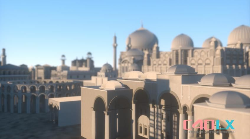 中东地区楼房建筑场景3D模型 Kitbash3D – MIDDLE EAST (Maya/FBX/OBJ)
