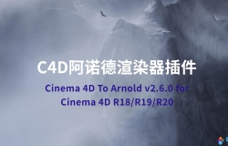 C4D阿诺德渲染器Solid Angle Cinema 4D To Arnold v2.6.0 for Cinema 4D R18/R19/R20 Win/Mac替换破解版 NoRLM
